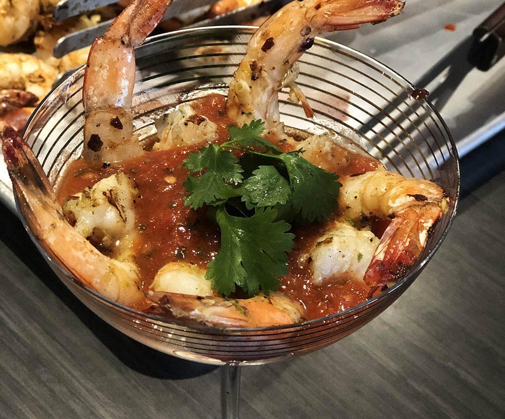 grilled shrimp cocktail hero