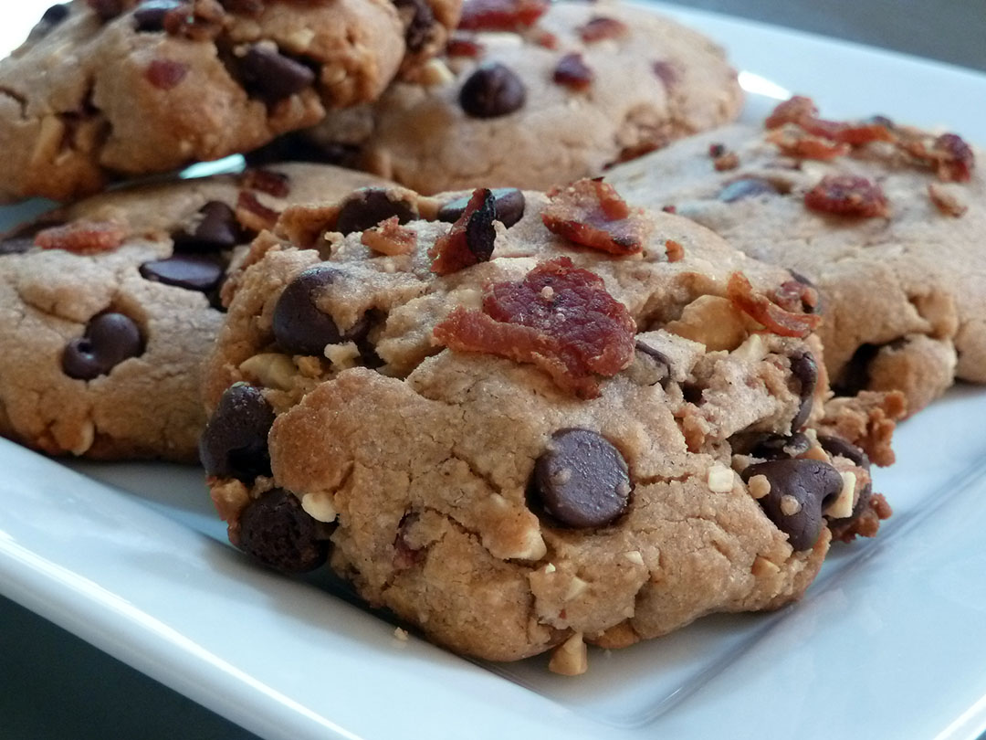 Peanut Butter Chocolate Chip Bacon Cookies Grill Grate